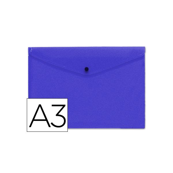 Bolsa Porta Documentos A3 c/ Mola Azul