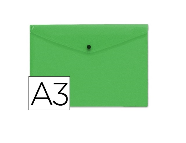 Bolsa Porta Documentos A3 c/ Mola Verde