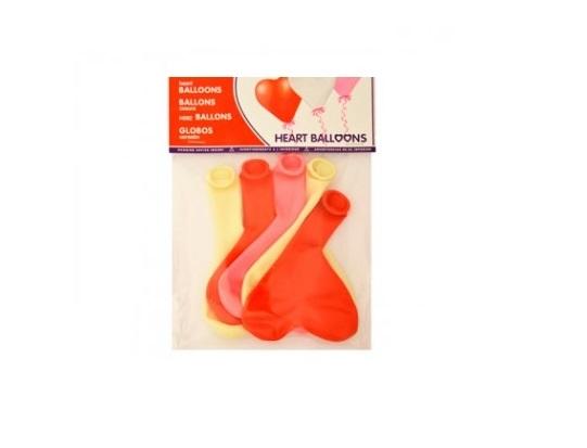 Balões com forma coração (Emb. 10)