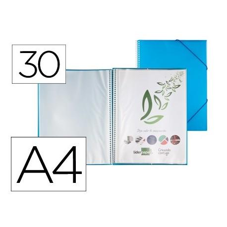 Capa Catalogo 30 Bolsas c/ Espiral Azul