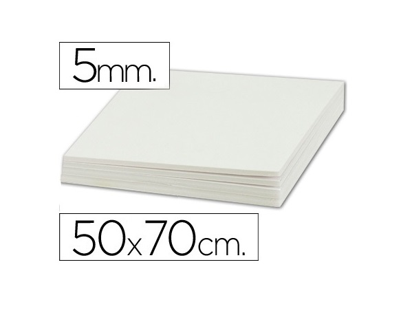 Cartao Maquete 50x70cm 5mm Branco