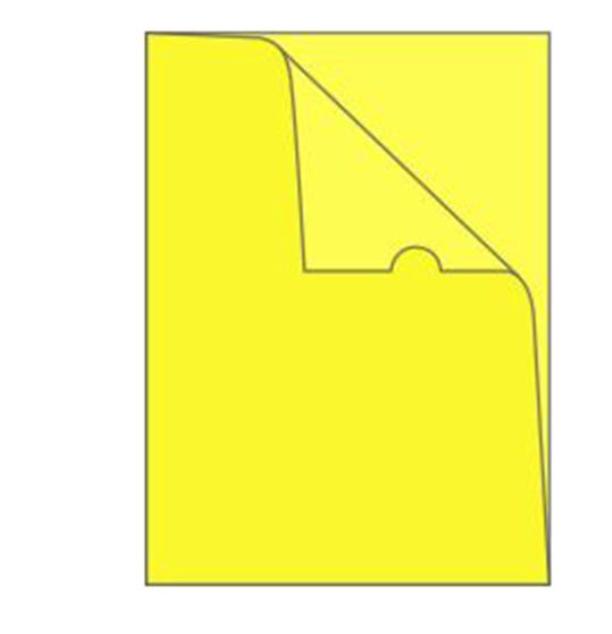 Bolsa em L A4 Amarelo Roma