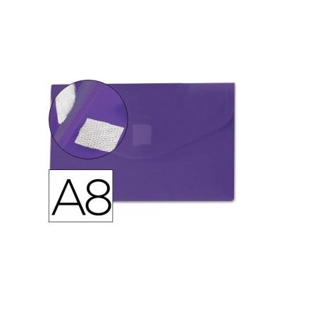 Bolsa Porta Documentos A8 c/ Velcro Violeta