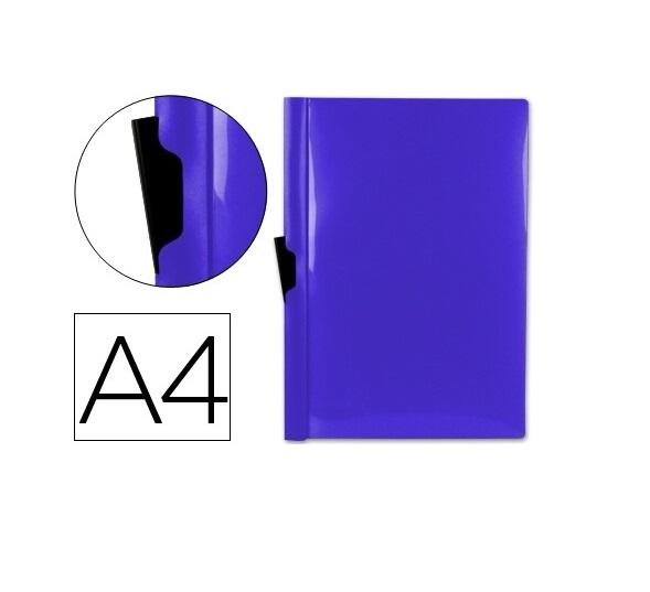 Bolsa Dossier A4 c/ Clip Lateral 30fls Azul Escuro