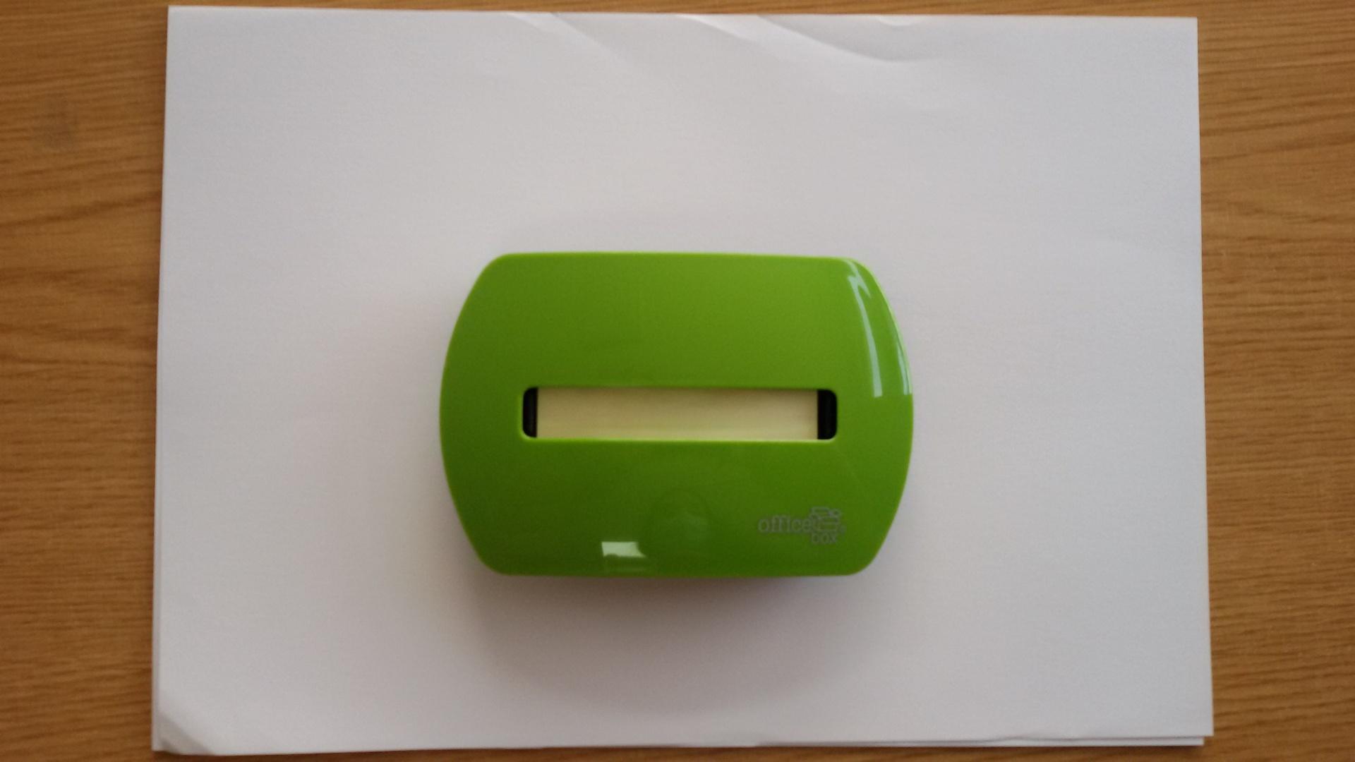 Dispensador de Notas Verde
