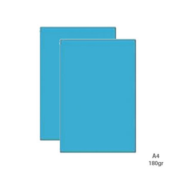 Cartolina A4 180g Azul Ceu (100fls)
