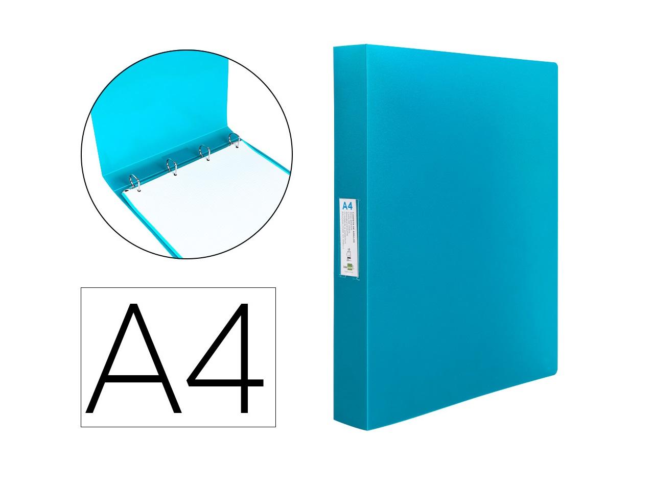 P. Arq. PP A4 25mm 4 Aneis Azul