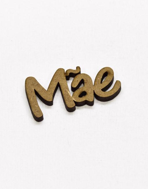Palavra Madeira Mae 5x2,5cm