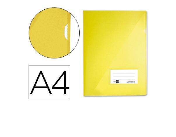 Bolsa Dossier A4 c/ Porta Etiquetas Amarelo