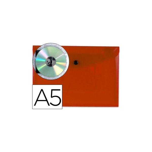 Bolsa Porta Documentos A5 c/ Mola Vermelho