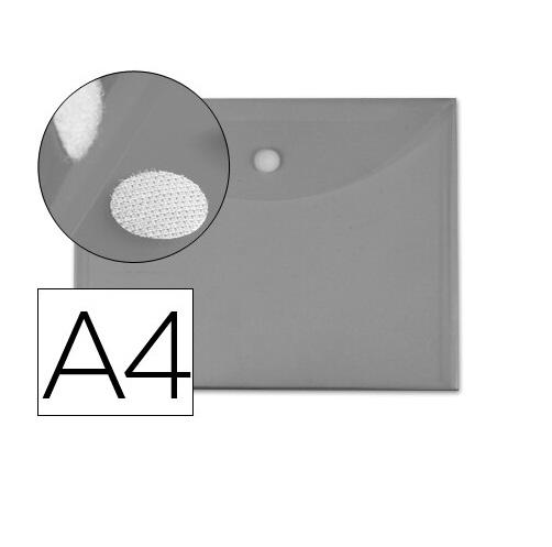 Bolsa Porta Documentos A4 c/ Velcro Cinza