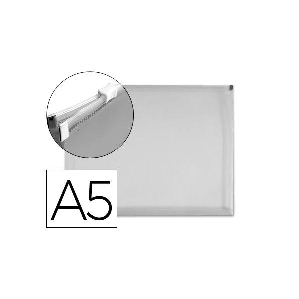 Bolsa Porta Documentos A5 c/ Fecho Zip Transparente