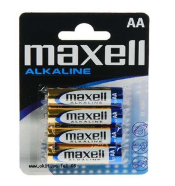 Pilha Alcalina AA Maxell - 4 Pilhas