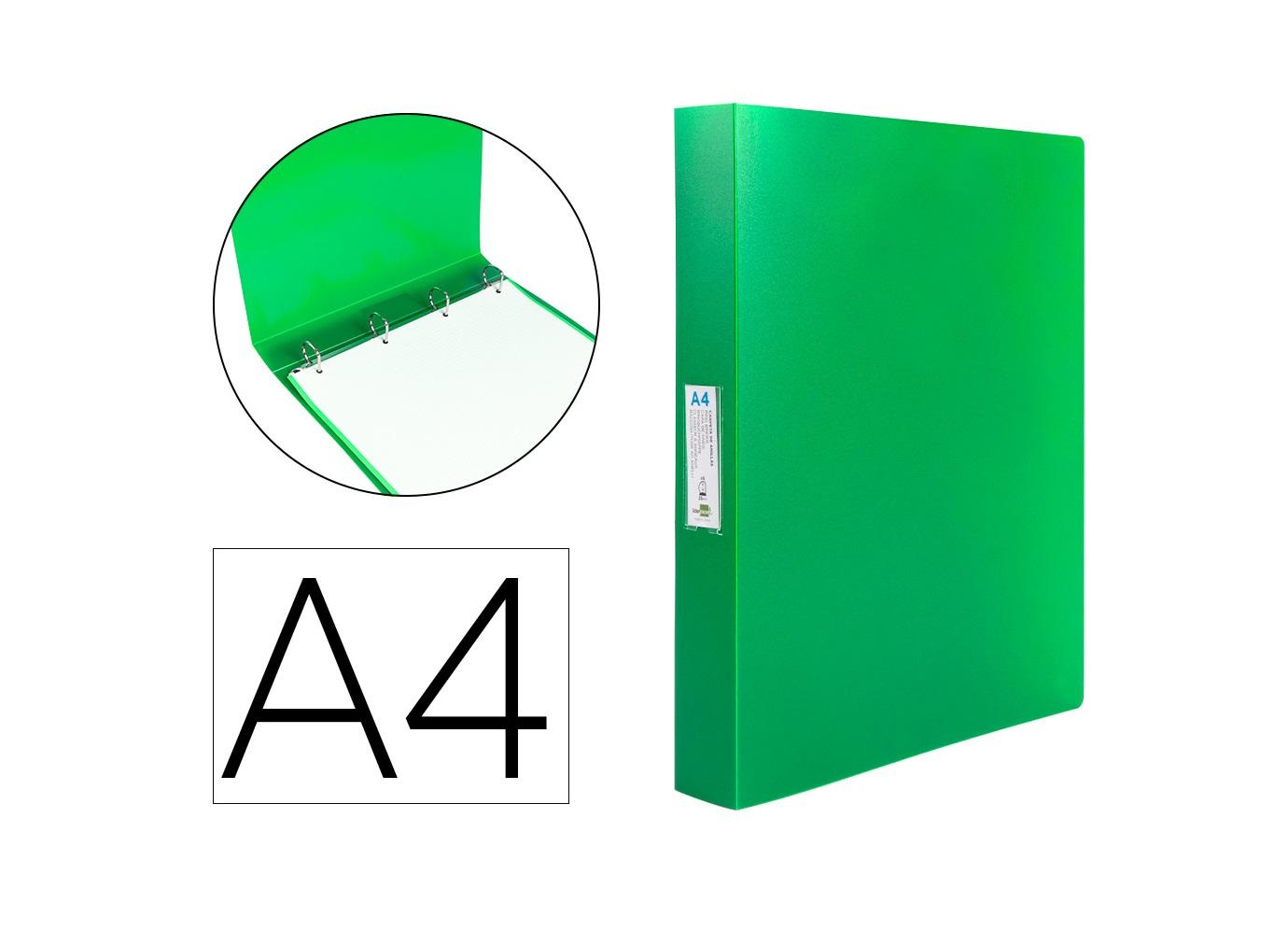 P. Arq. PP A4 25mm 4 Aneis Verde