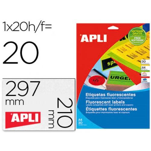 A4 210x297mm (1) Verde (20fls) APLI p/ Laser