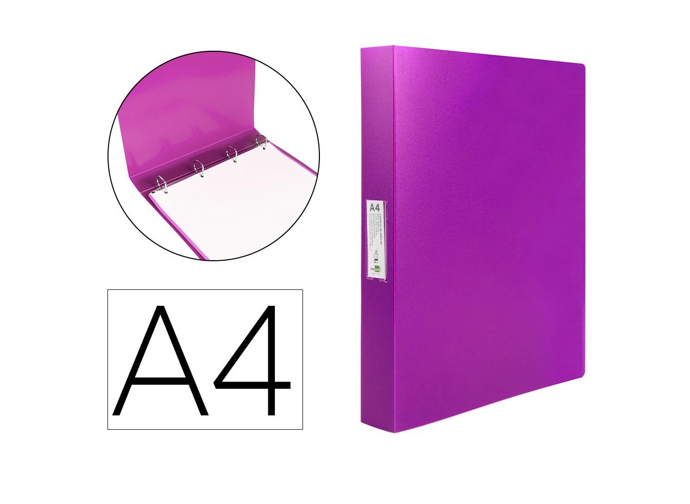 P. Arq. PP A4 25mm 4 Aneis Violeta
