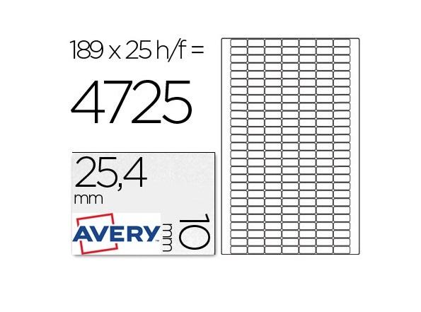 A4 25x10mm (189) Branco Removiveis (25fls)