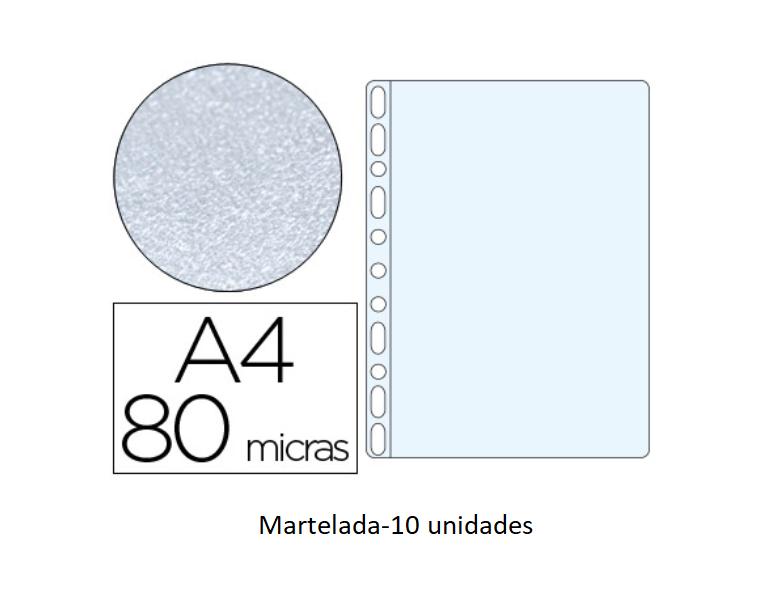 Bolsa Catalogo A4 80 microns (10un) Martelada