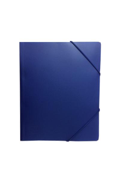 Pasta c/ Elasticos A4 PP Azul