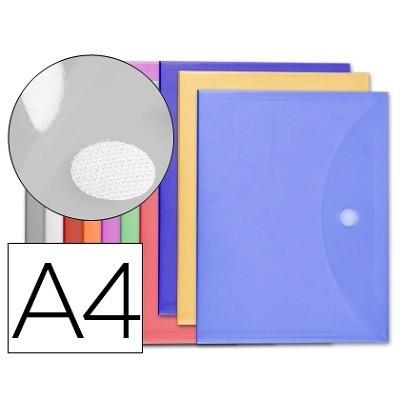 Bolsa Porta Documentos A4 c/ Velcro Cores Opacas