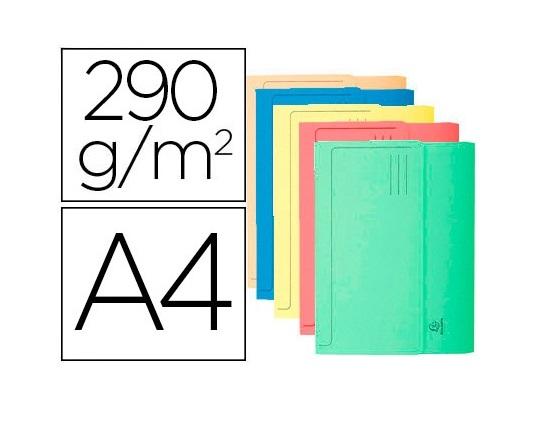 Classificador A4 em Cartolina c/ Bolsa Cores Sortidas