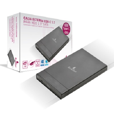 Caixa Externa HDD 2.5 USB-C 3.2 SATA