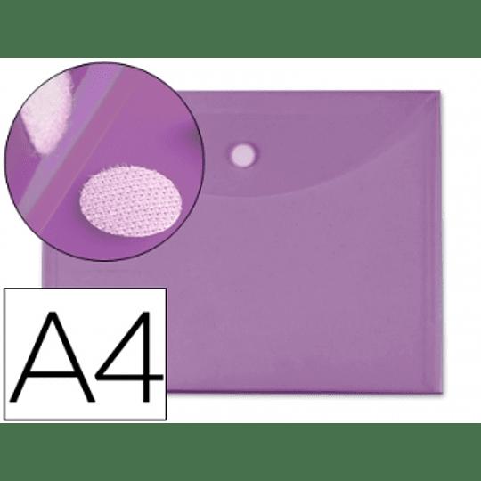 Bolsa Porta Documentos A4 c/ Velcro Violeta