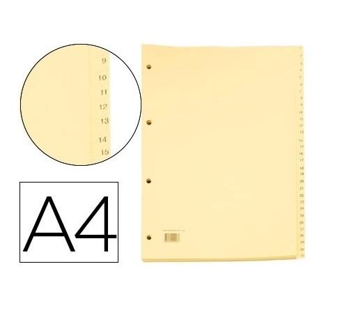 Separadores A4 Cartolina 1-31