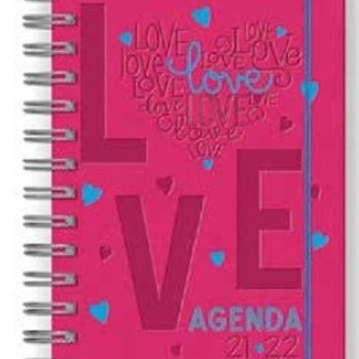 Agenda Escolar A5 Tucson Rosa Love