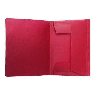 Pasta c/ Elasticos A4 PP Vermelho Ruby