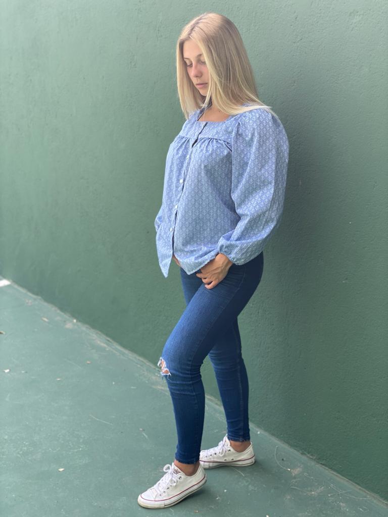 Camisa Artémis âncoras