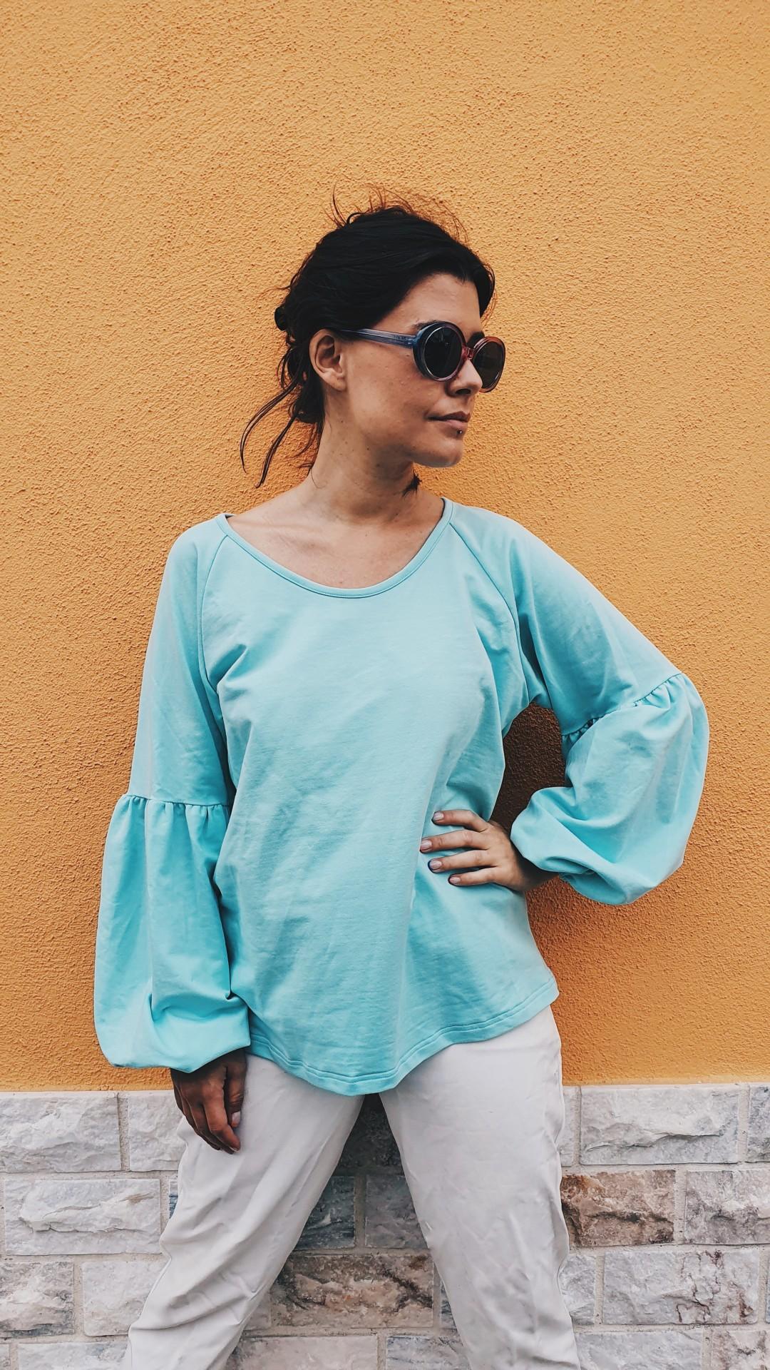 Camisola Gaia azul