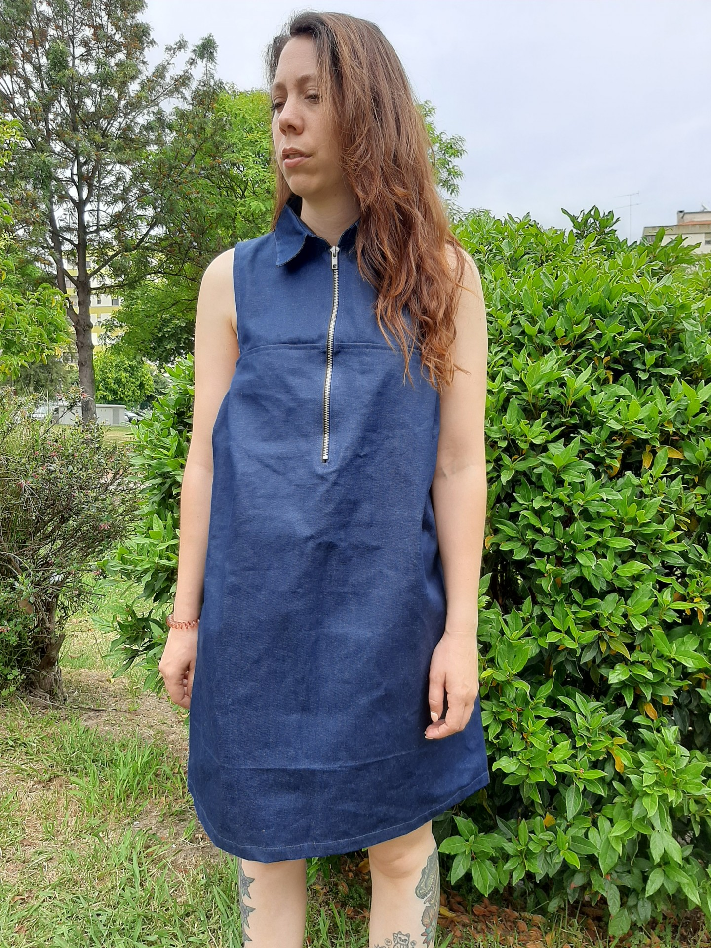 Vestido Afrodite azul ganga jeans