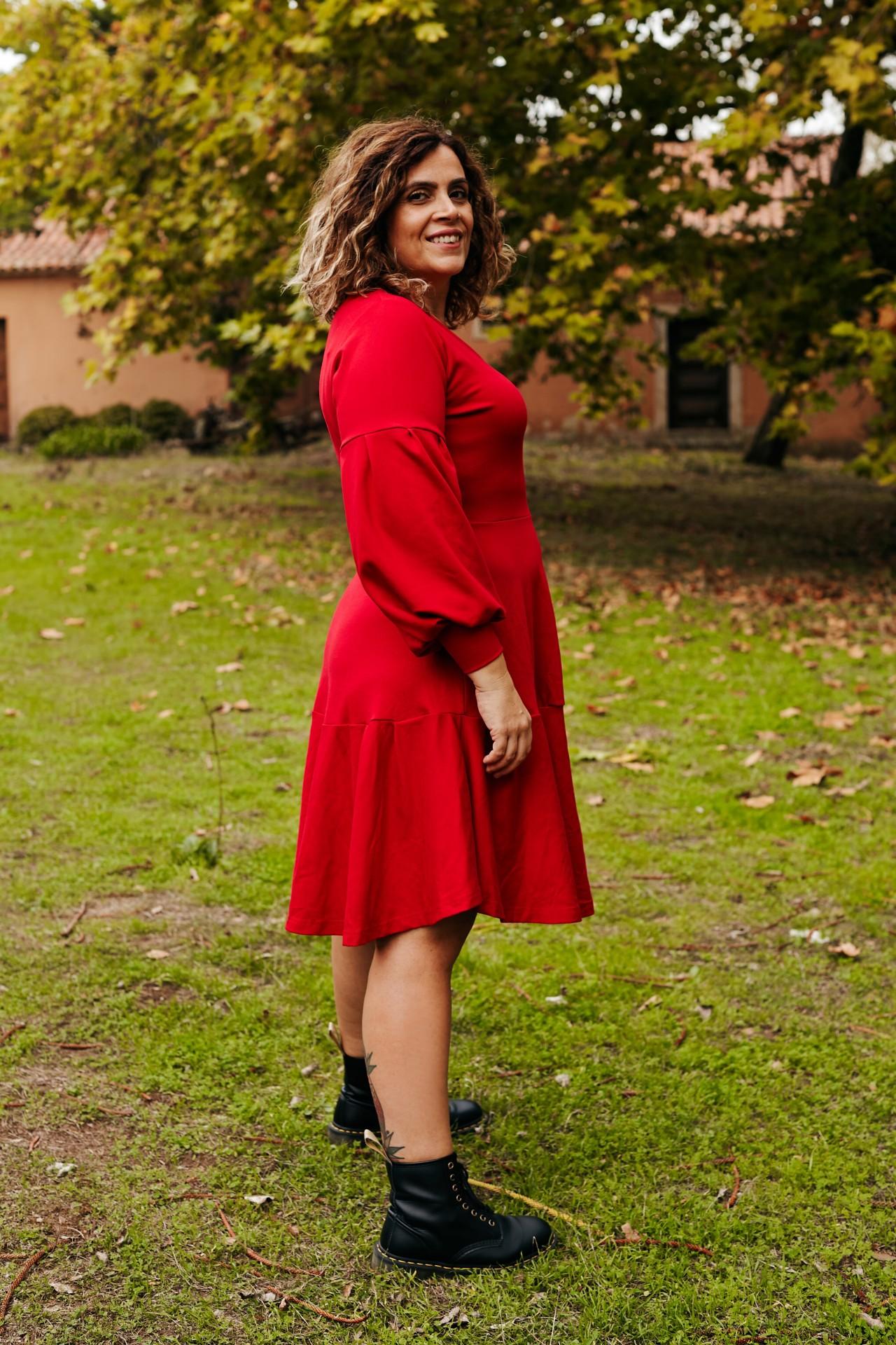 Vestido Be grateful vermelho