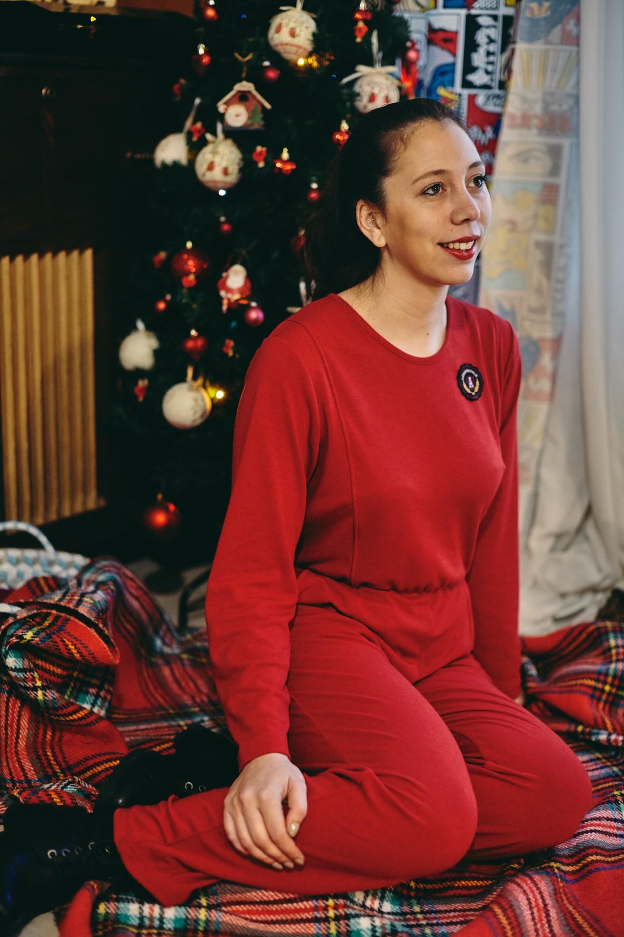 Macacão Home Collection vermelho