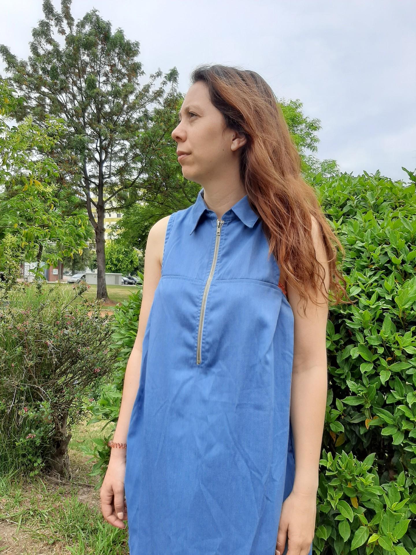 Vestido Afrodite azul