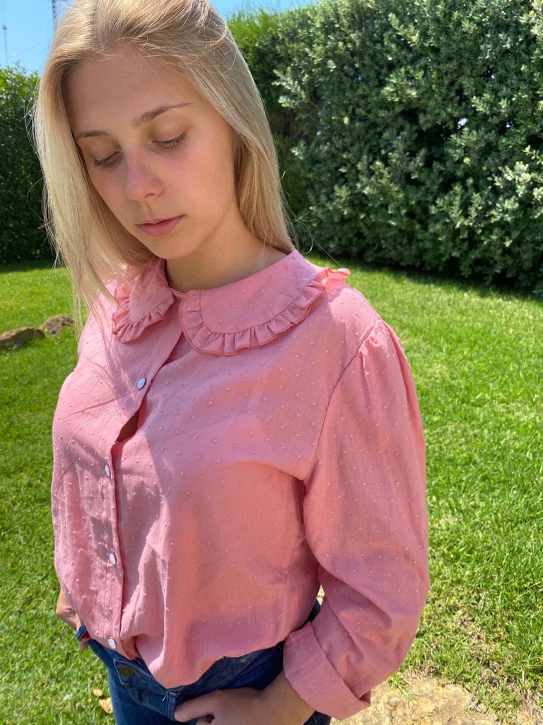 Camisa Hebe Rosa Velho