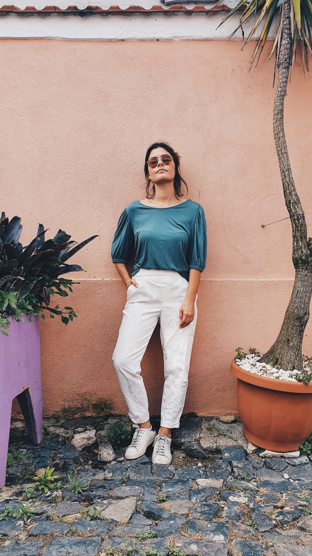 T-shirt Atena verde turquesa