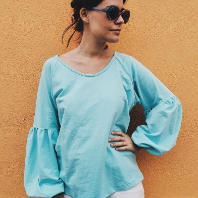 Blusa Be Amazing turquesa