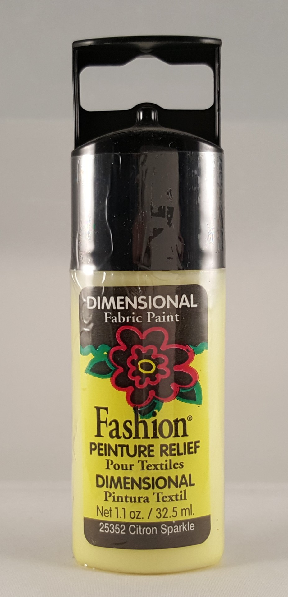 Tinta Dimensional para Tecido Fashion citron sparkle