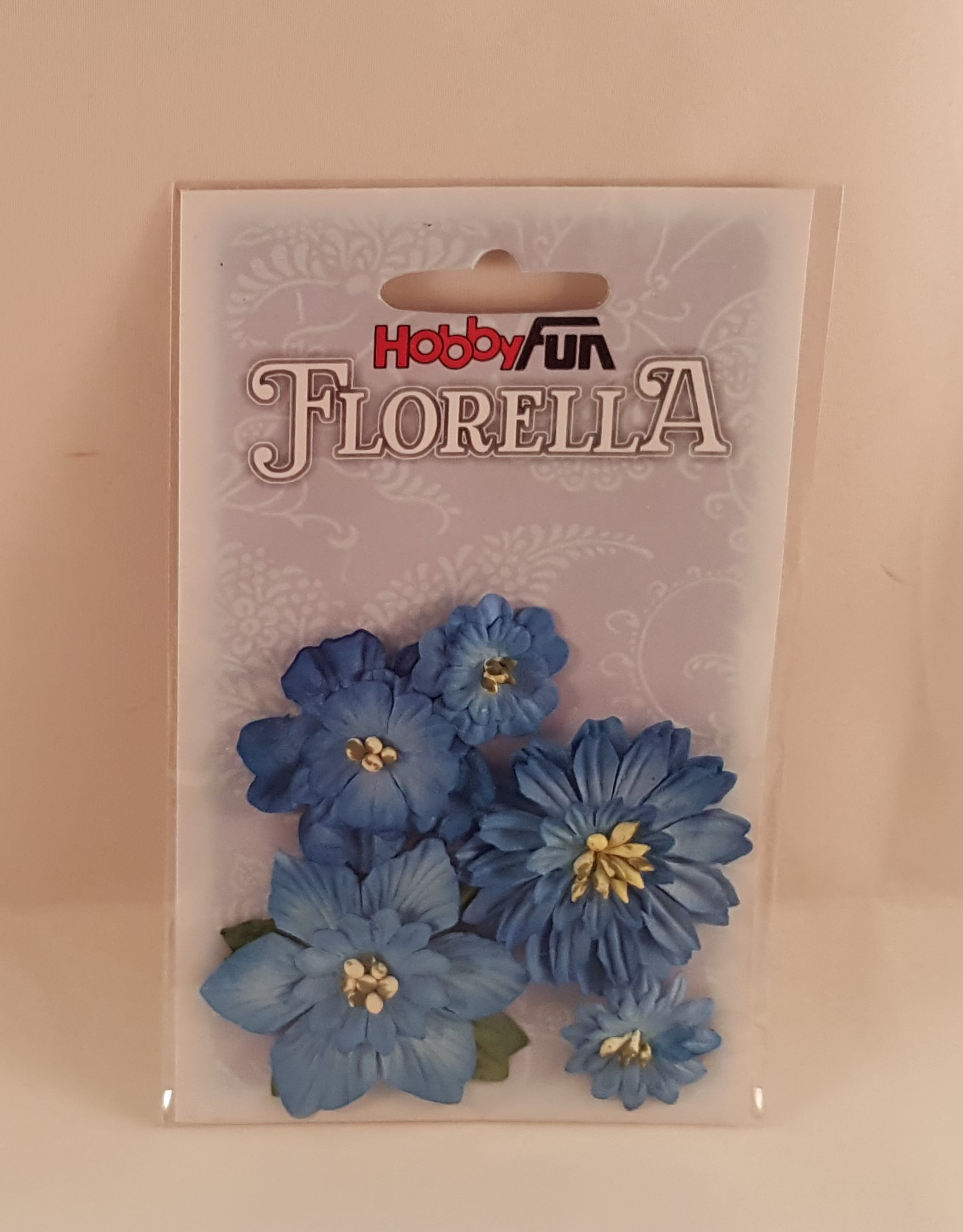 Flores de Papel azuis para scrapbooking
