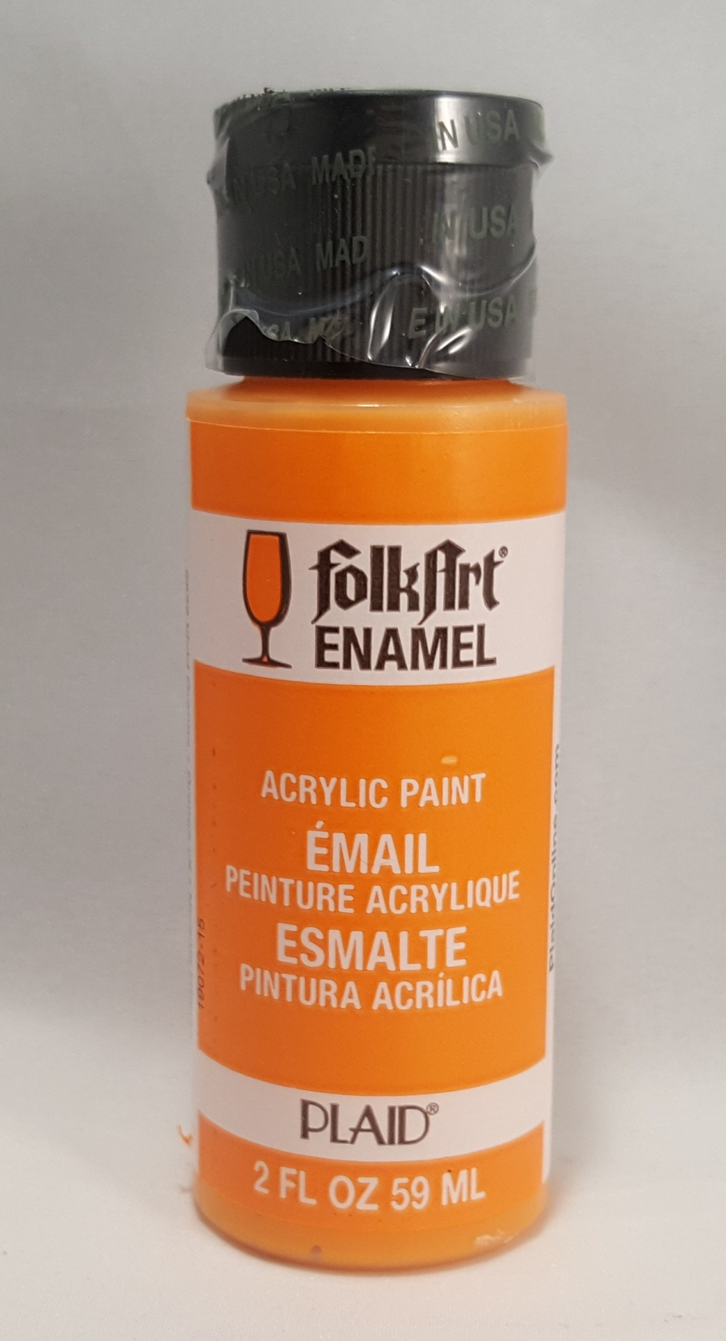 Tinta Acrílica Folkart Enamel Vivid orange