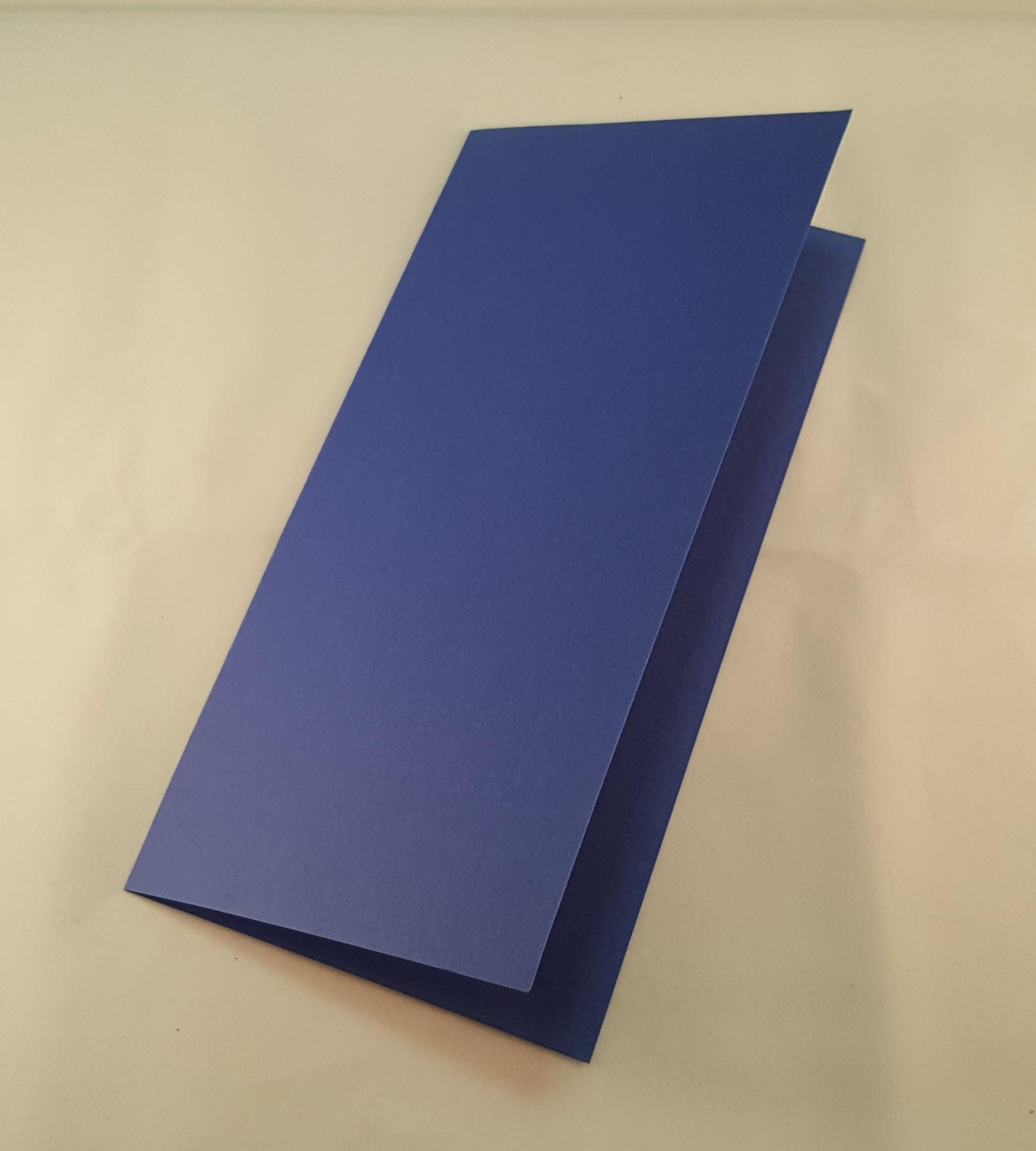 Cartão DL colorido cor azul escuro