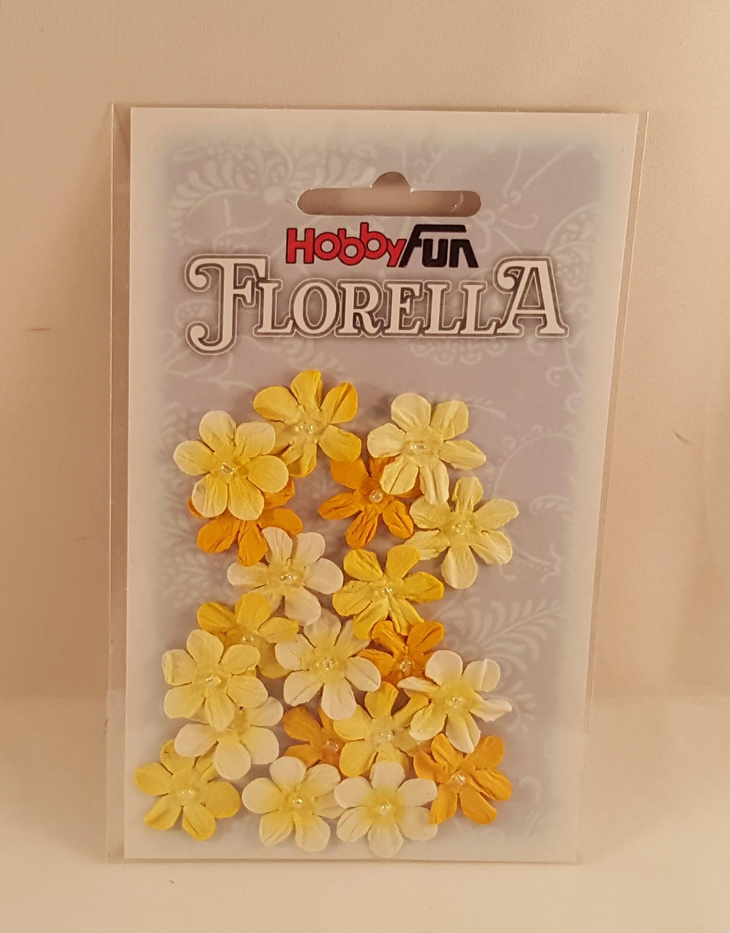 Flores de papel amarelas(muitas) para scrapbooking