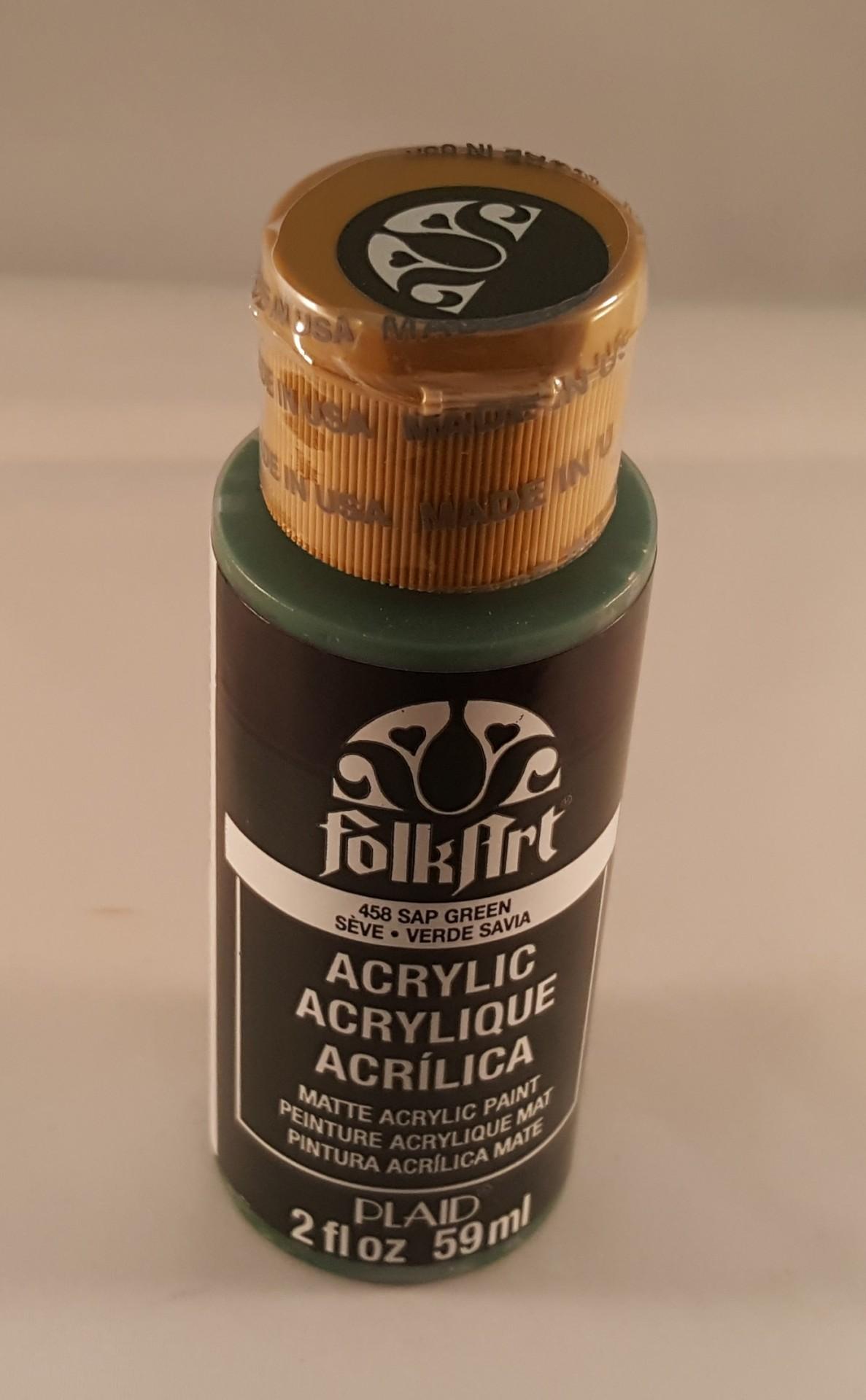 Tinta Acrílica Folkart verde savia