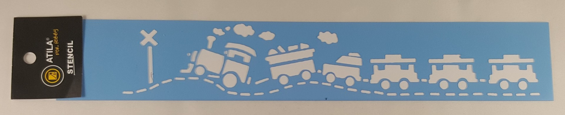 Stencil border comboio