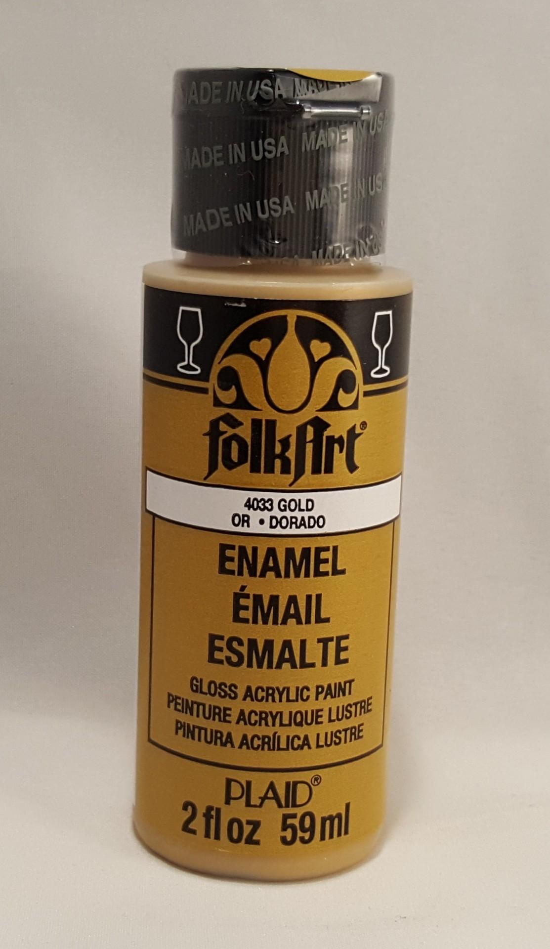 Tinta Acrílica Folkart Enamel Gold