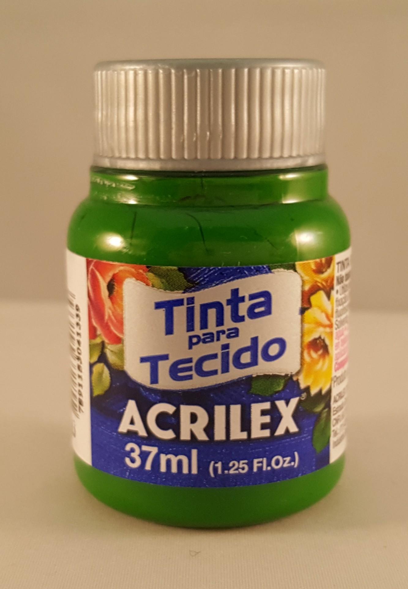 Tinta Tecido Acrilex verde musgo 513