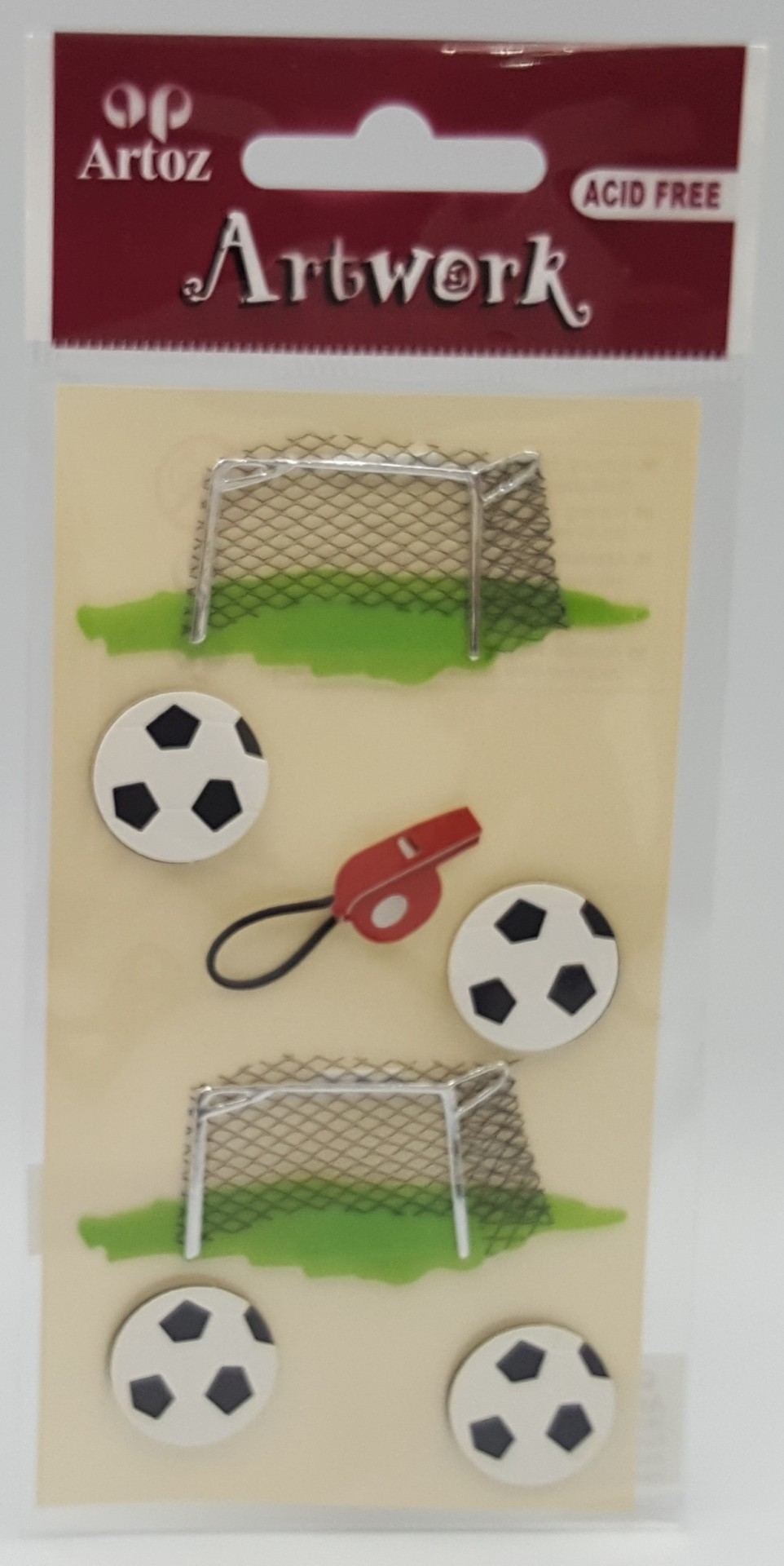 Aplicações scrapbooking futebol-Artoz Artwork