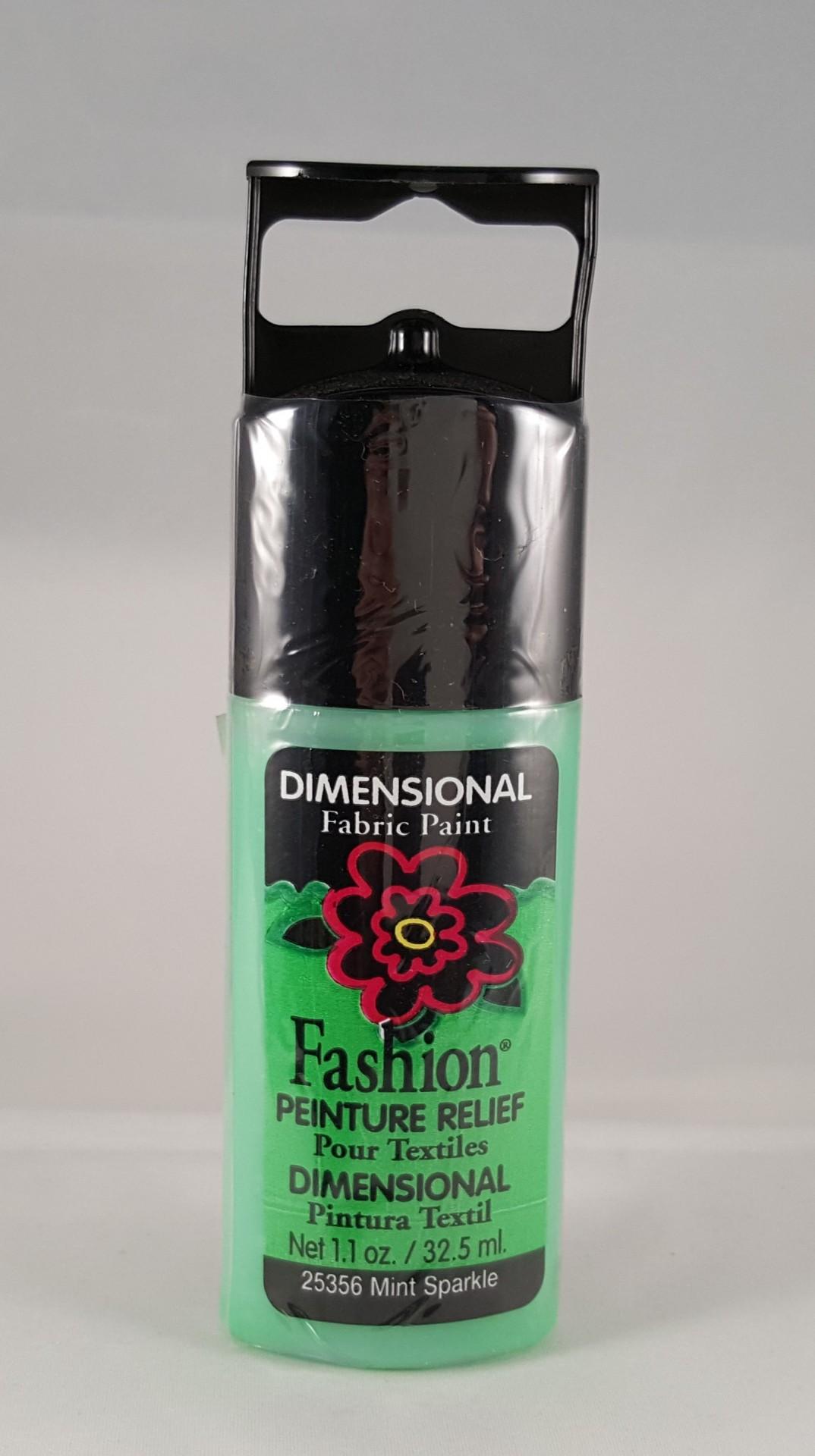 Tinta Dimensional para Tecido Fashion mint sparkle